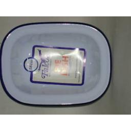 New Falcon White Enamel Oblong Pie Baking Dish Tin 18cm