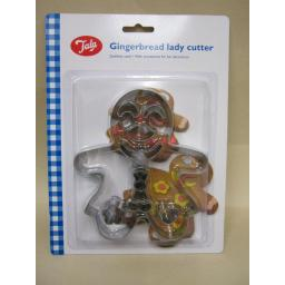 New Tala Stainless Steel Gingerbread Lady Cookie Cutter Ref 10A10542