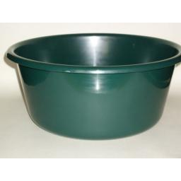 "New Lucy Green Large Round Plastic Washing Up Bowl 35cm 14"" Slight Seconds"