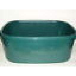 "New Lucy Green Large Oblong Plastic Washing Up Bowl 38cm 15"" Slight Seconds"