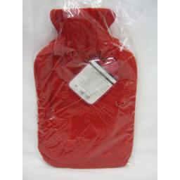 New Covered Hot Water 2Ltr Bottle Knitted Cable knit Jumper Design Red