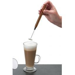 New Kitchen Craft Le Xpress Hand Held Deluxe Battery Latte Milk Frother Copper