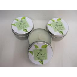 New Prices Wax Scented Candle Green Tea Tin Pk 3 Triple Pack