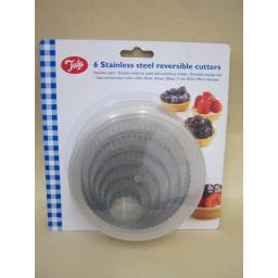 New Tala Stainless Steel Reversible Cookie Pastry Cutters Pk 6 Ref 10A10202