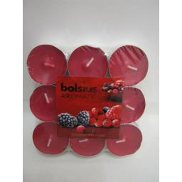 New Bolsius Tealights Candles Fragranced Scented Tea Lights Pk 18 Berry Delight