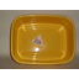 New Lucy Yellow Small Oblong Plastic Washing Up Bowl Slight Seconds