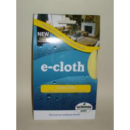 New E-Cloth Dusters Cloth Yellow 30cm x 33cm Pk 2