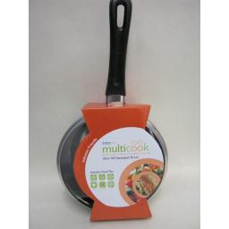 New Multi Cook Induction Stainless Steel Sauce Pan And Glass Lid 16cm 5526016GL