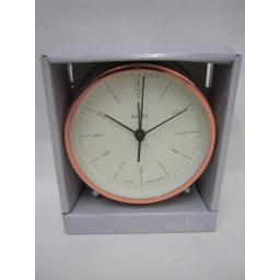 New Acctim Battery Alarm Clock Copper Evo Design 15178