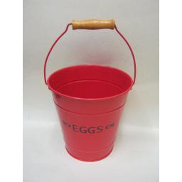 New Victor Enamel Red Metal Bucket For Eggs TA120R