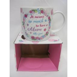 New BGC Fine China Mug Beaker Coffee Tea It Means So Much To Have A Mum Like You