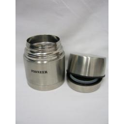 New Pioneer Grunwerg Stainless Steel Food Flask Jar 0.5L GRUNHTH500-A Damaged