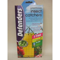 New Defenders Greenhouse Insect Catcher Killer Poison Free Pk 5 STV017