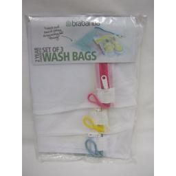 New Brabantia Underwear Lingerie Washing Wash Laundry Bag White Pk3