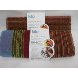 New Kilo Large Euro Scrubby Scourer Cleaning Cloth Assorted Colours L47 Pk2
