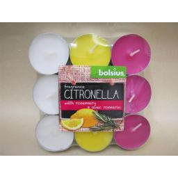 New Bolsius Citronella Tealights Candles Fragranced Tea Lights Pk 18 Rosemary