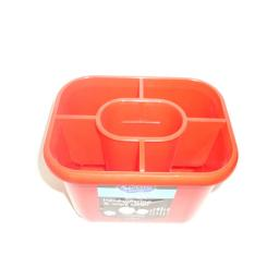 New Addis Oblong Plastic Washing Up Cutlery Drainer Red