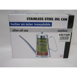 New Victor Stainless Steel Olive Oil Can Green VCW485
