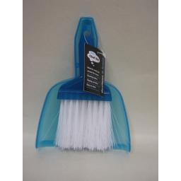 New Chef Aid Soft Bristle Nylon Brush Plastic Blue Mini Dustpan Set CH164