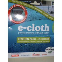 New E-Cloth Kitchen Cleaner Cleaning Pack 2 x Cloths