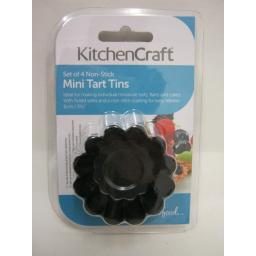 New Kitchen Kraft Mini Fluted Tart Flan Tins Non Stick Set Of 4 KCMINFAIRY