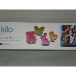 New Kilo Biscuit Animal Pastry Cookie Cutters Plastic Set Of 4 N144
