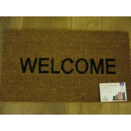 New JVL PVC Backed Novelty Coir Door Mat Doormat Welcome 02-425