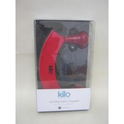 New Kilo Mezzaluna Herb Cutter Chopper Slicer Dicer Red JC47