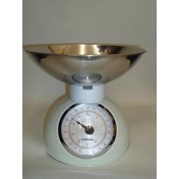 New Sabichi Traditional Kitchen Weighing Scales Cream 112781