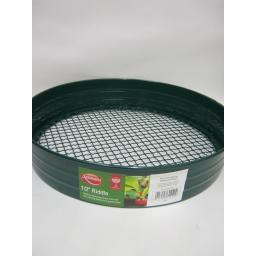 "New Ambassador Green Metal Garden Riddle Coarse Sieve 1/2"" 12mm AR12"