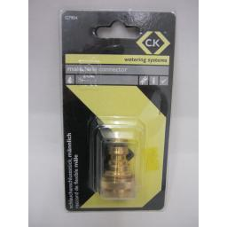 "New CK Watering Systems Male Hose Connector Brass 1/2"" G7904"