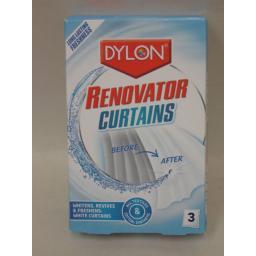 New Dylon Curtain Nets Voiles Muslin Whitener Renovator 3 x 50ml X 2 Packs