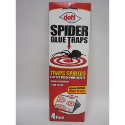 New Doff Spider Woodlice Insect Killer Glue Traps Pk4