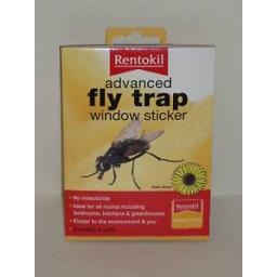 New Rentokil Advanced Fly Trap Window Sticker Pk 4 Stickers