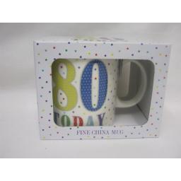 New Lesser And Pavey Fine China Mug Beaker Coffee Tea 80 Today LP33526