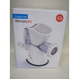 New Eddingtons Pro Plastic White Meat Mincer Inc Sausage Attachement 86001