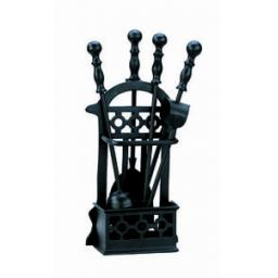 New Manor Victorian Black Fireside Fireplace Companion Tool Set 1145