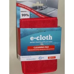 New E-Cloth Bath And & Shower Cleaning Pad 20cm x 17.5 cm Red