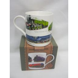 New Lesser And Pavey Fine China Mug Beaker Coffee Tea Cup Classic Trains LP99881