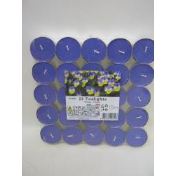 New Tealights Candles Fragranced Tea Lights Pk 25 Violet