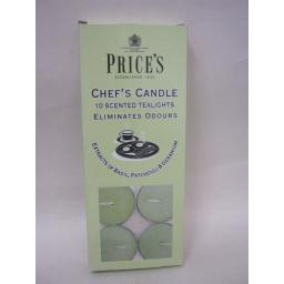 New Prices Wax Scented Tealights Chef's Cooks Candle Pk 10 Tea Lights Tealight