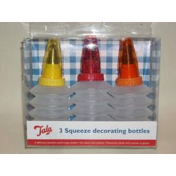 New Tala Icing Squeeze Sauce Decorating Bottles Pk3 9944