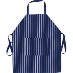New Probus Fackelmann Cotton Textile Kitchen Cooking Apron Blue Butchers Stripe