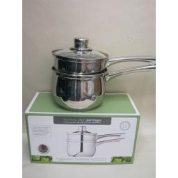 New Kitchen Craft Stainless Steel Porringer Sauce Pan 16cm KCCVPOR