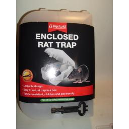 New Rentokil Lockable Enclosed Rat Trap Killer PSE10