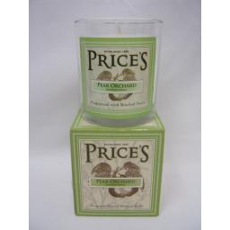 New Prices Heritage Collection Scented Candle Glass Jar Pear Orchard