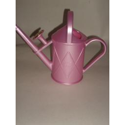 New Haws Heritage Indoor Plastic Watering Can Brass Rose 1 Litre Pearl Pink