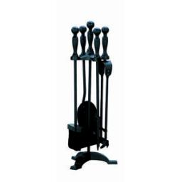 New Manor Black Fireside Companion Set 1065 550mm