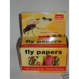 New Rentokil Fly Papers Sticky Flypapers Killer Pk8