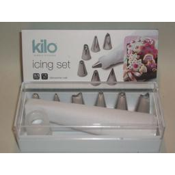 New Kilo Icing Bag Set Stainless Steel Nozzles Set 6 N30 Damaged Packaging